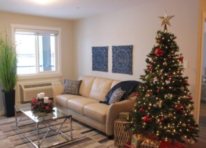 Photo: Showsuite in Building 4, just in time for the holidays